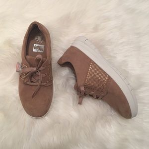 2c7f62958 Fitflop Shoes - Fitflop Mocha Suede Sporty Pop Crystal Sneakers